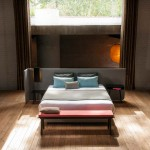 Lit Area avec tête de lit paravent par Alain Gilles