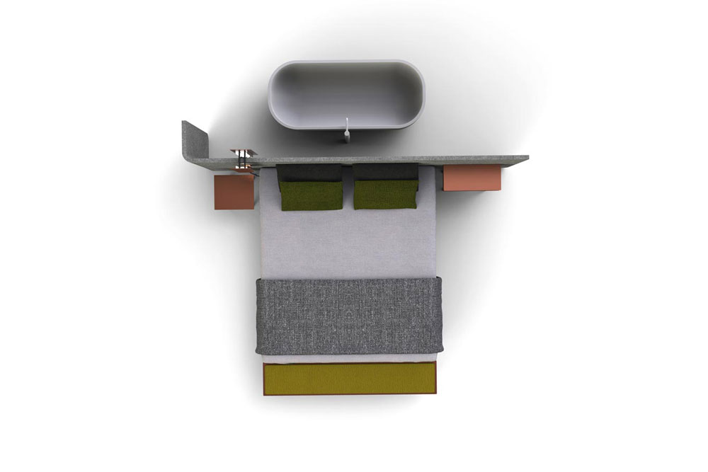 comment cr er un coin dans un studio avec un vrai lit la solution. Black Bedroom Furniture Sets. Home Design Ideas