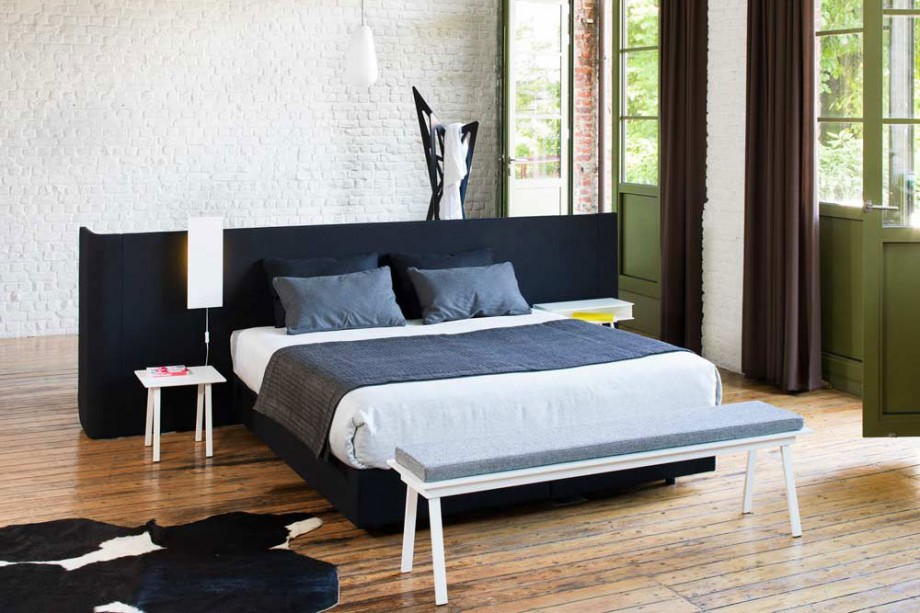 lit design avec s parateur de pi ce area. Black Bedroom Furniture Sets. Home Design Ideas