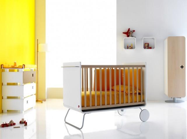 Lit évolutif pour bébé transformable en bureau BE Cot