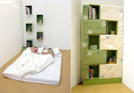 Lit & bibliothèque, bed bookcase