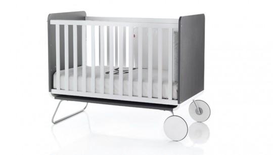 Lit évolutif design pour bébé blanc et gris BE Cot