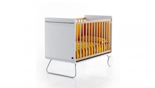 Lit évolutif pour bébé blanc et jaune BE Cot