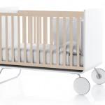 Lit évolutif pour bébé en bois naturel Be Cot
