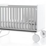 Lit évolutif pour bébé design gris et blanc Be Cot