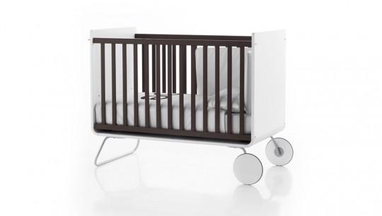 Lit à barreaux évolutif pour bébé noir et blanc Be Cot
