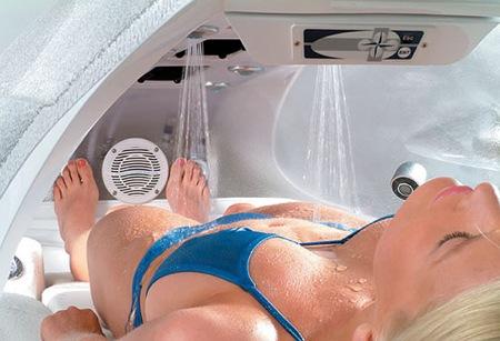 SPA jet, lit hydro-massant futuriste