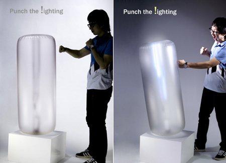 Luminaire punching ball