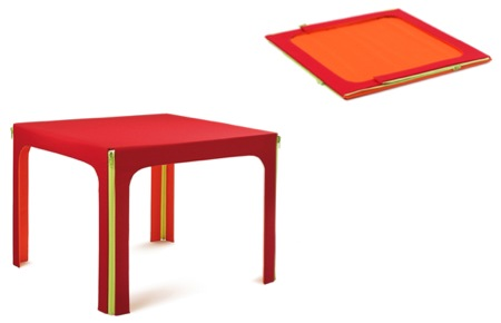 Miss folding, table basse pliante zippée
