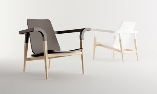 Modernetique chair | fauteuil en bois massif classico-moderne