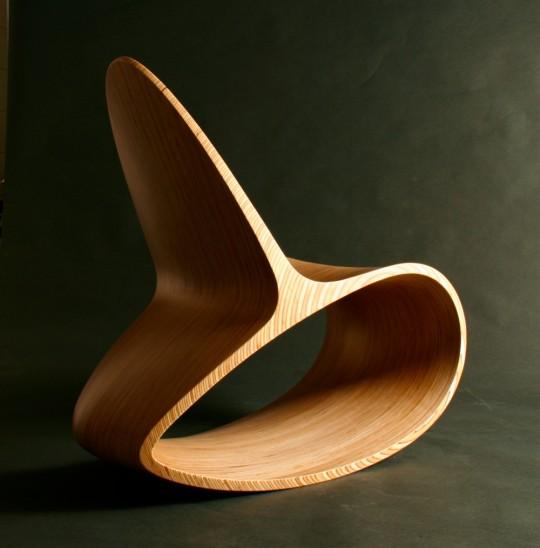 Rocking chair en bois Ocean rocker III