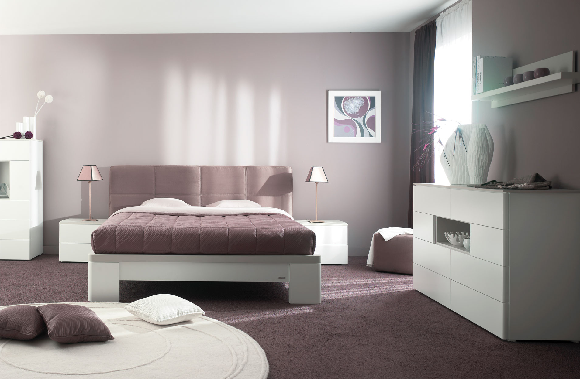 Inspiration d coration de chambre contemporaine gautier opalia for Exemple deco chambre adulte