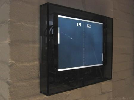 Horloge jeu video Pong clock