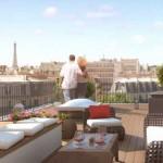 Pereire 17 vue sur Paris depuis la terrasse