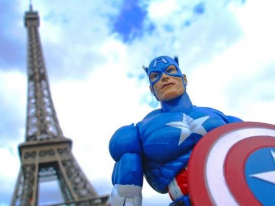 Photos de super-héros à Paris par Laurent Lagarde