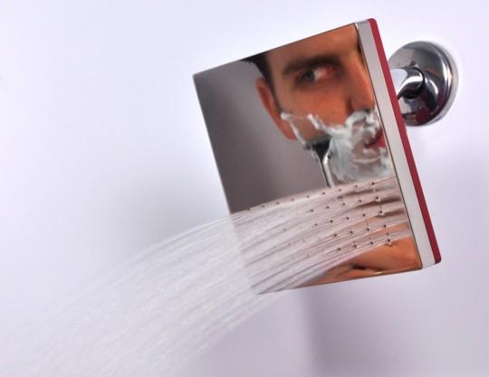 Reflect shower la pomme de douche miroir sans bu e for Piscine miroir definition