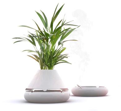 Pot de fleurs et cendrier design