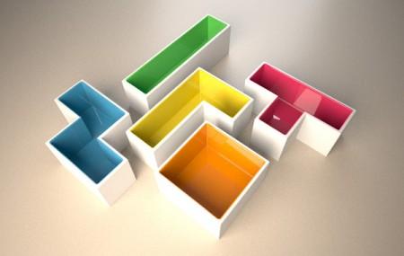 Pot de fleurs Tetris