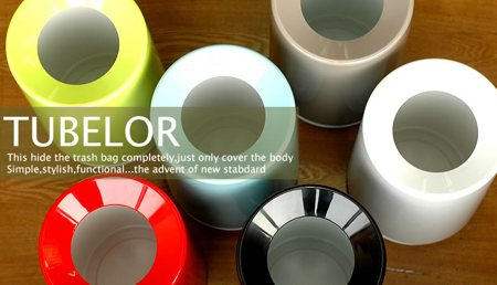 Tubelor, poubelle design astucieuse
