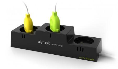 Multiprise électrique en forme de podium olympique