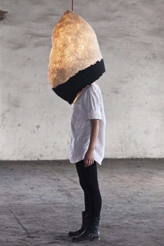 Suspension en pâte à papier recyclé Pulp Lamp
