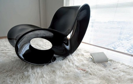 Rocking chair Voido by Ron Arad