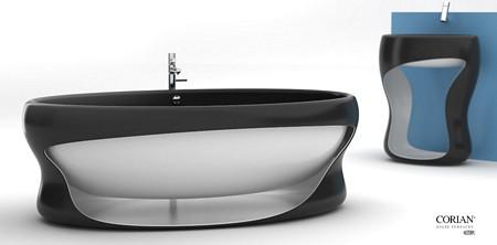 Baignoire et lavabo design, Manworks