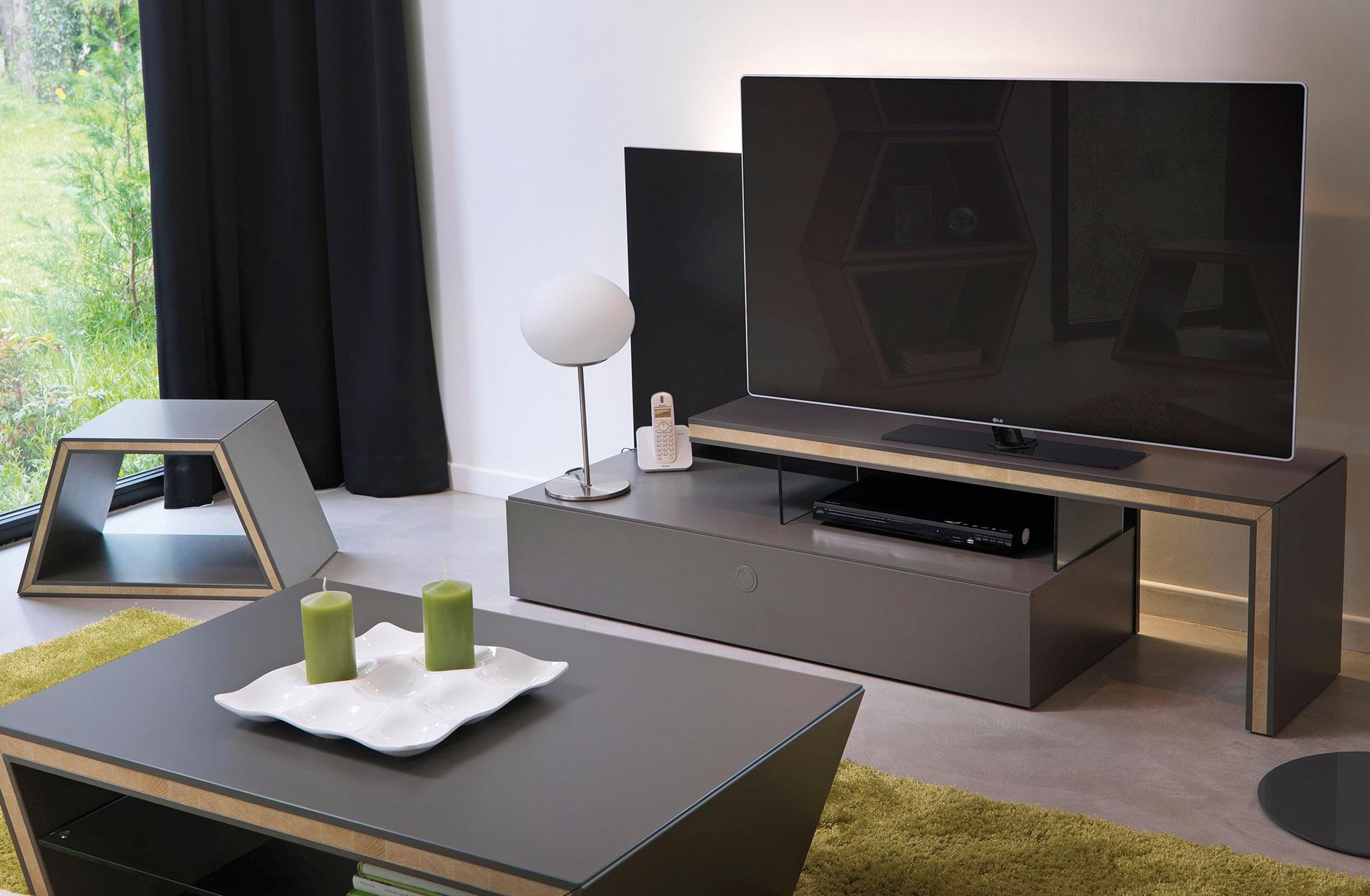 ambiance d co salon contemporain gautier setis. Black Bedroom Furniture Sets. Home Design Ideas