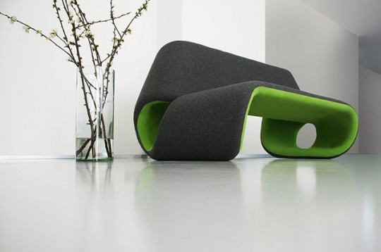 Sofa bicolore Greener Grass | Cecilia Lundgren
