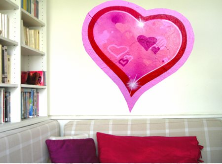 Sticker en coeur pour la St-Valentin
