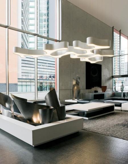 Suspension modulable & futuriste Ameba, Vibia