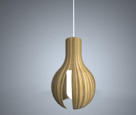 Suspension en bois design Woodbulb