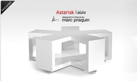 Table basse Asterisk, Marc Praquin