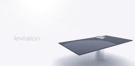 Table avec 1 seul pied, Levitation