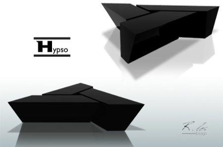 Table basse design noire Hypso