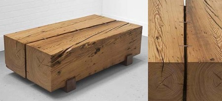 Table basse en bois massif originale by Uhuru