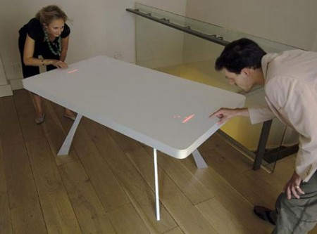 Table en corian – jeu video, Pong table