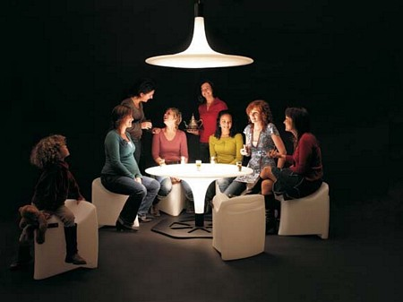 Table ronde lumineuse