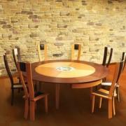 meuble table moderne table ronde extensible. Black Bedroom Furniture Sets. Home Design Ideas