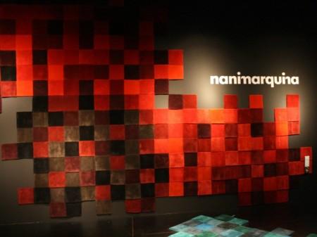 Canapé et tapis avec des pixels en relief