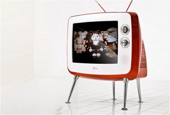 Téléviseur vintage LG rétro série 1