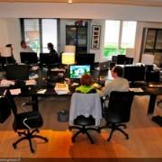 Vue panoramique des bureaux de Squareclock