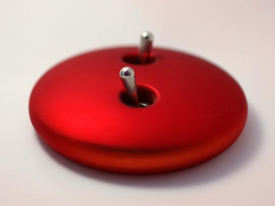 Interrupteur double galet rouge Elo