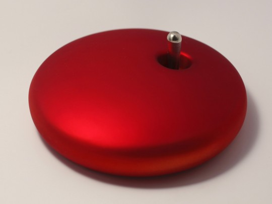 Interrupteur galet design en aluminium brossé rouge Elo