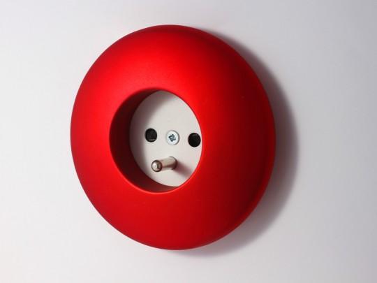 Prise électrique design ronde Elo