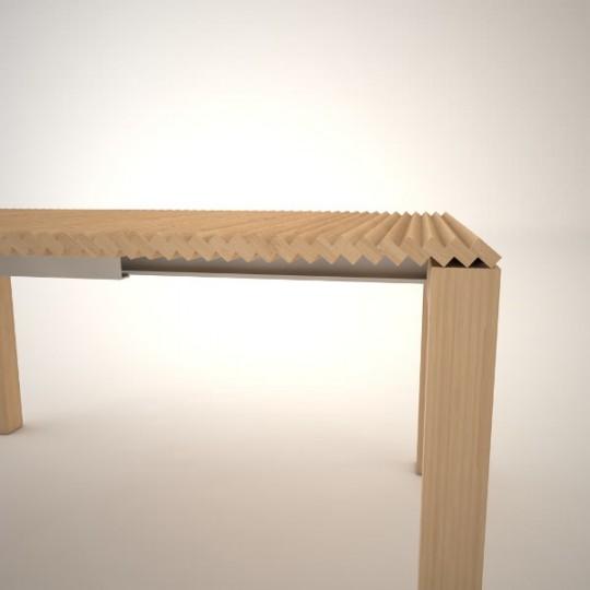 Table extensible sans rallonge par Julien Vidame