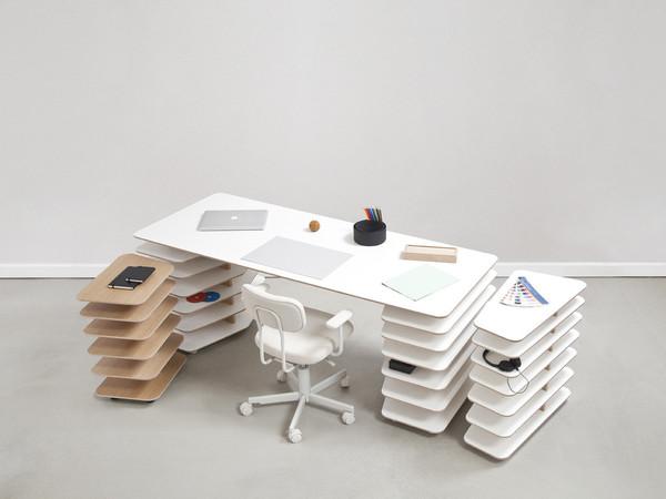 bureau design modulaire strates system. Black Bedroom Furniture Sets. Home Design Ideas