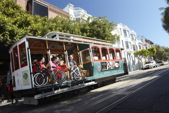 Bwtin Tilt : le vélo pliant dans le cable car à San Francisco
