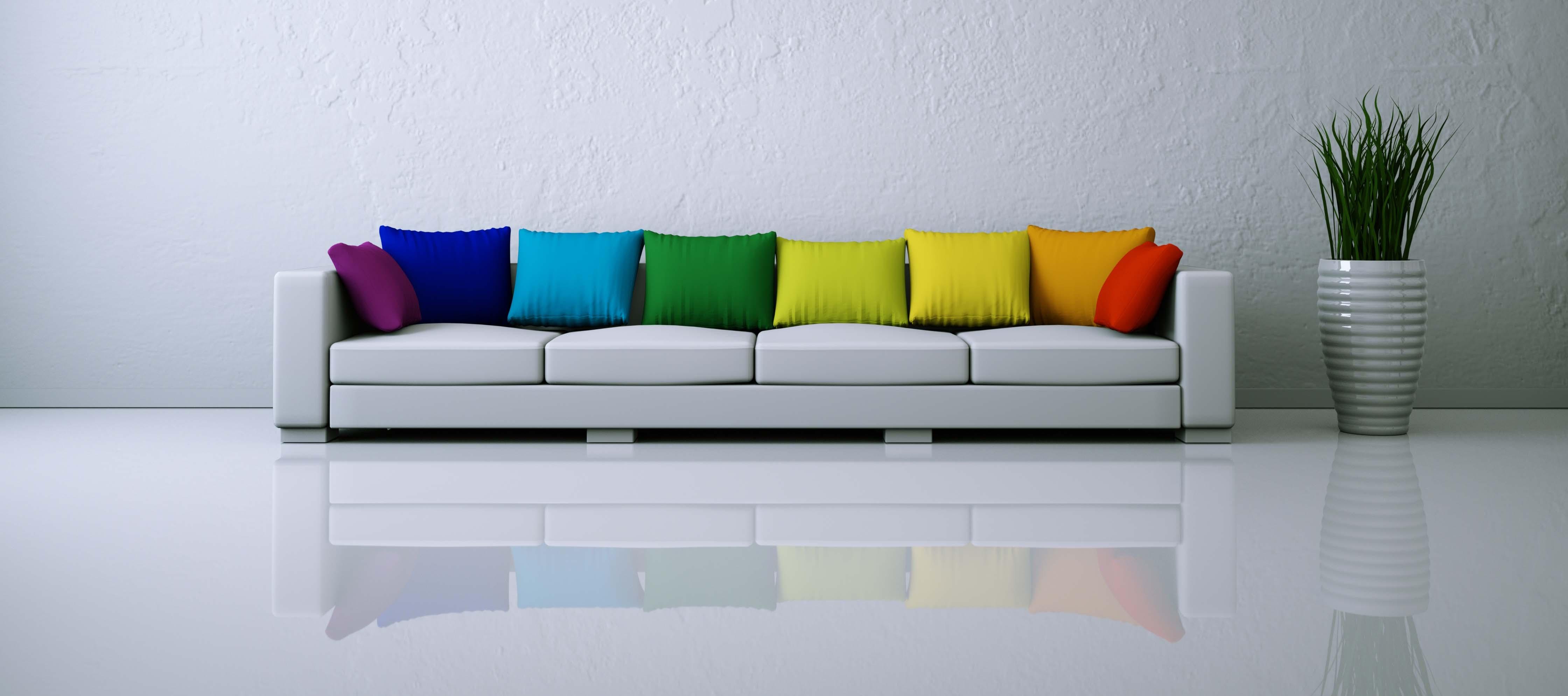 Home made : Relookez vos vieux coussins avec des tissus colorés !