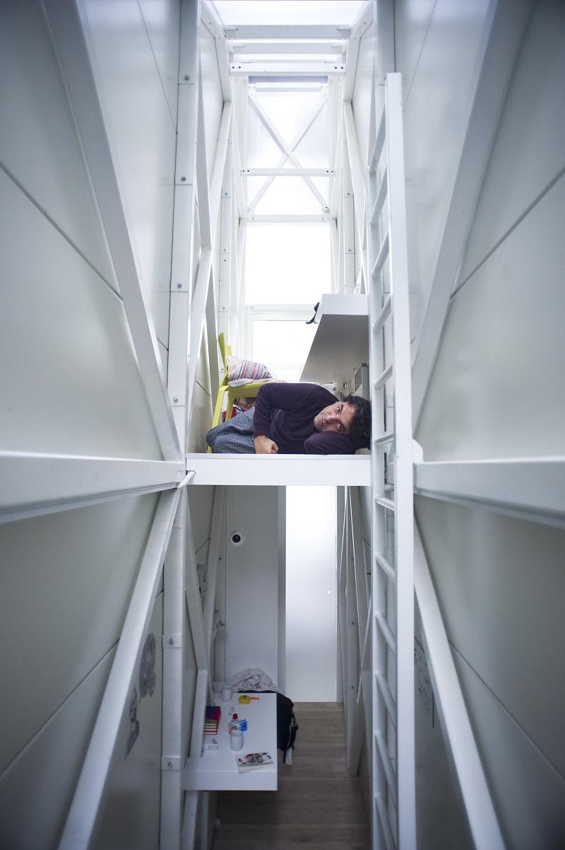 Intérieur de la maison la plus étroite du monde